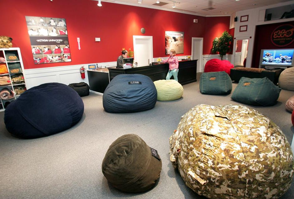 Love Sac Bean Bag Chair Millennials Love Lovesac But Will Shareholders The Furniture