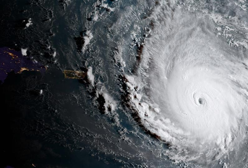 hight resolution of this is what would happen if a volcano erupted into the eye of a hurricane
