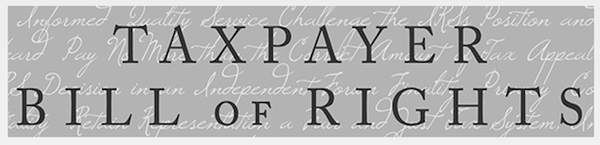 IRS Releases Much Anticipated 'Taxpayer Bill Of Rights'