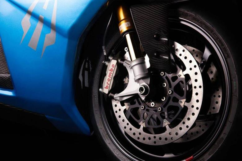 Top-shelf components from Brembo and Öhlins dress up the top-tier Strike, called the Carbon Edition. You'll need to deposit $10,000 to get one.