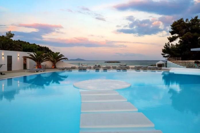 Pool views from Marpunta Resort in Alonissos