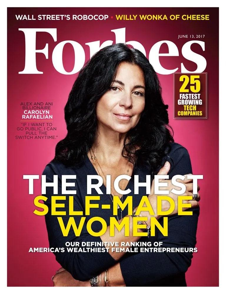 Rafaelian ranks no. 18 on Forbes' list of America's Richest Self-Made Women.