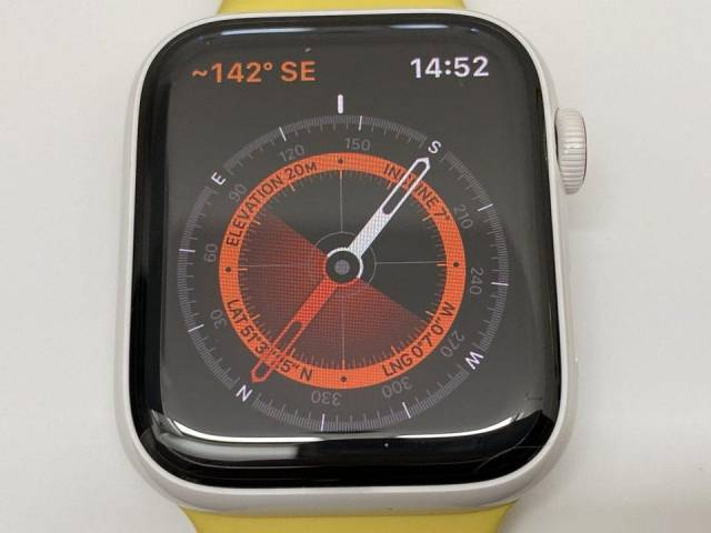 The Compass app on the Apple Watch Series 5.