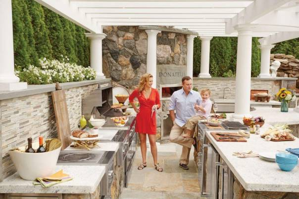 Outdoor kitchens are getting more elaborate, both for entertaining and relaxing.