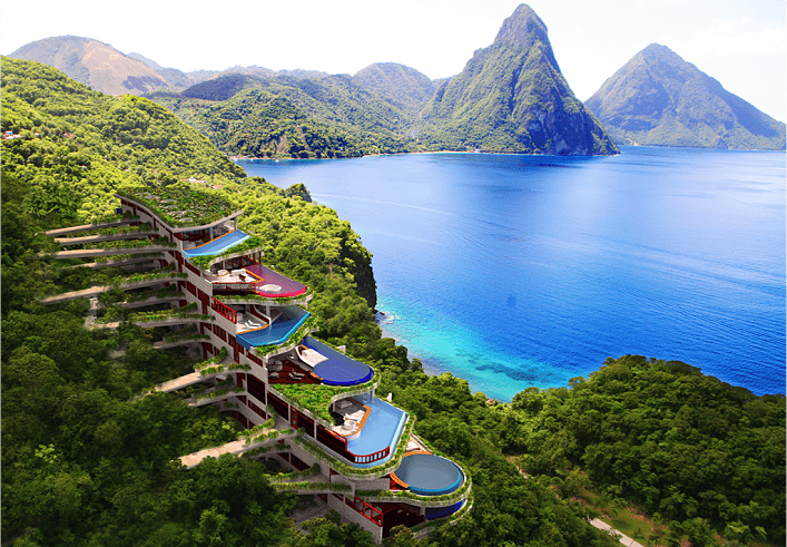 famed jade mountain in