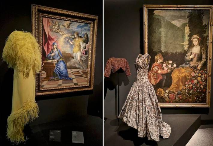 Balenciaga's evening dress from the 1940swith El Greco's The Annunciation, 1576