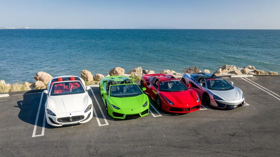 The slate of cars for your tour - you get to drive all four of them.