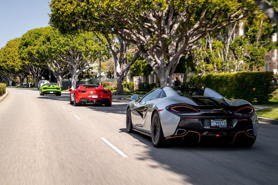 This new 3-hour package tour lets guests pilot four of the world's most desirable sports cars through the most famous roads in the Los Angeles area.