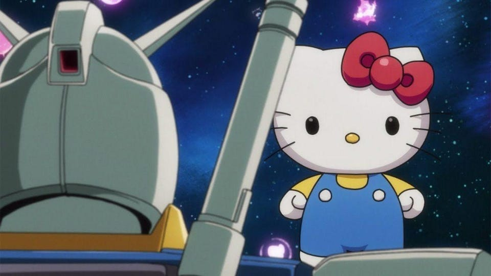 hello kitty and mobile