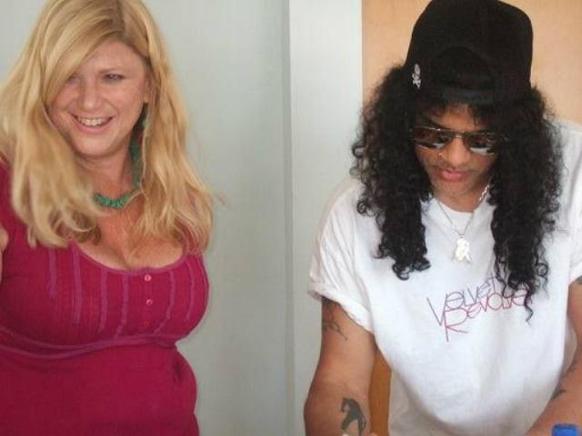 Vicky Hamilton and Guns N' Roses guitarist Slash