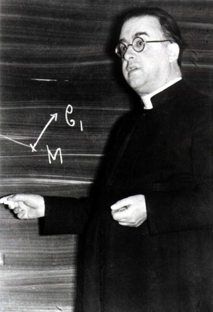 Georges Lemaître at the Catholic University of Leuven, ca. 1933. Public domain image.