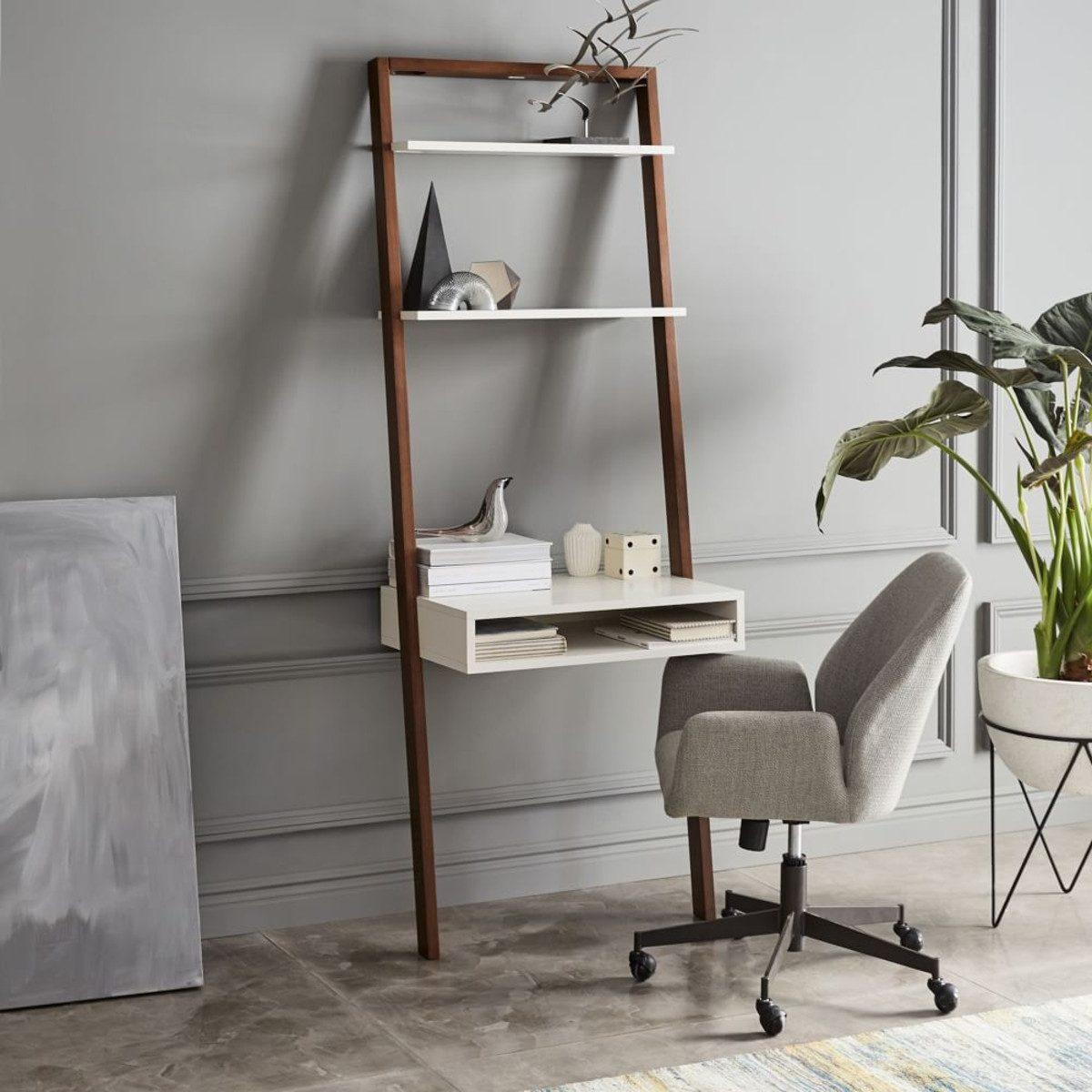 7 Space Saving Desks For Small Spaces   Ladder Design For Small Space   Stairway   Glass   Modern   Two Story House Stair   Limited Space