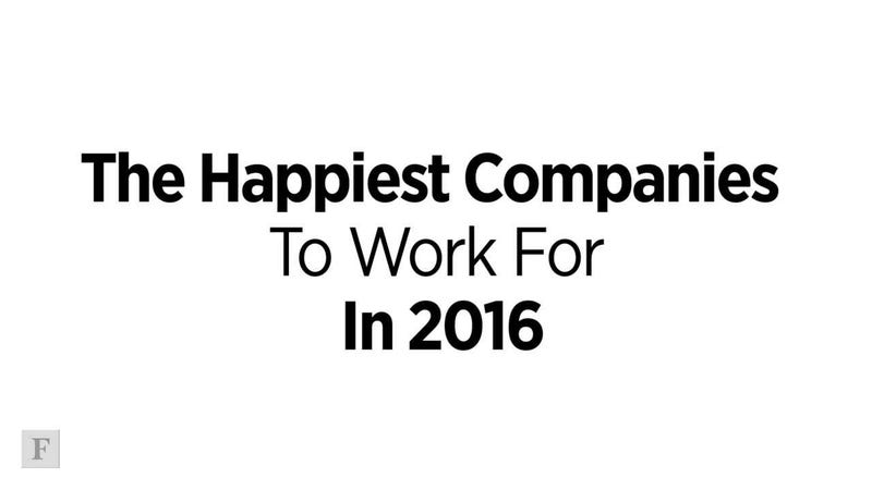 Happiest Companies To Work For In 2016