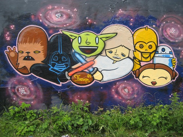 Geeky Graffiti 08 630x472 50 Geeky Street Art Pieces Brimming With Awesomeness