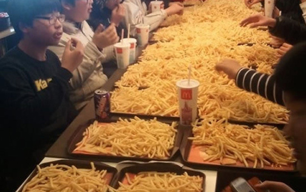 "2. Earlier this year In Japan and Korea when McDonald's temporarily lowered the price of fries kids had ""potato parties"" The Biggest WTF & Fails From McDonalds — 20 Pics"