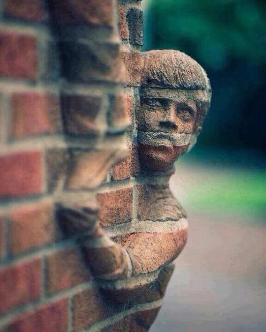 mind blowing brick art