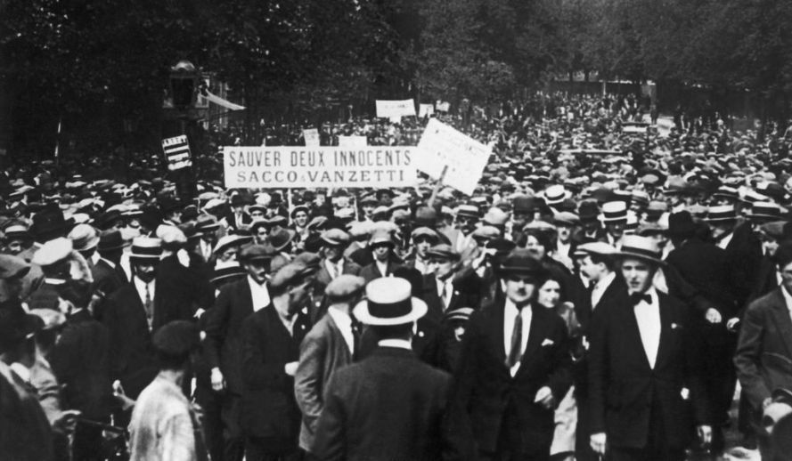 Protesters in France in support of Sacco and Vanzetti