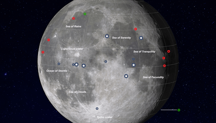 Interactive Map Shows All 21 Successful Moon Landings