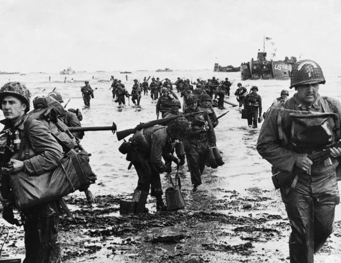 Image result for U.S. GI at Omaha in Normandy