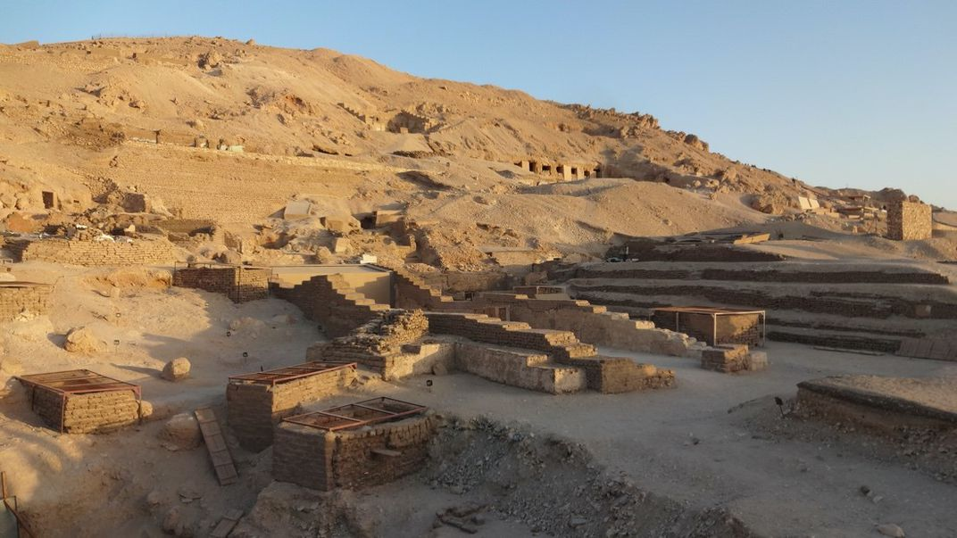 Ancient ruins in the Egyptian desert
