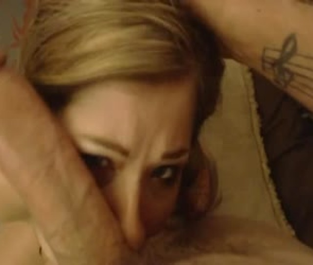 Submissive Girl Giving No Hands Big Cock Blowjob