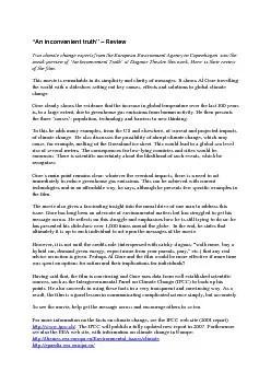 """An inconvenient truth"" – Review PDF document"