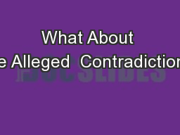 CONTRASTS and CONTRADICTIONS PowerPoint Presentation, PPT