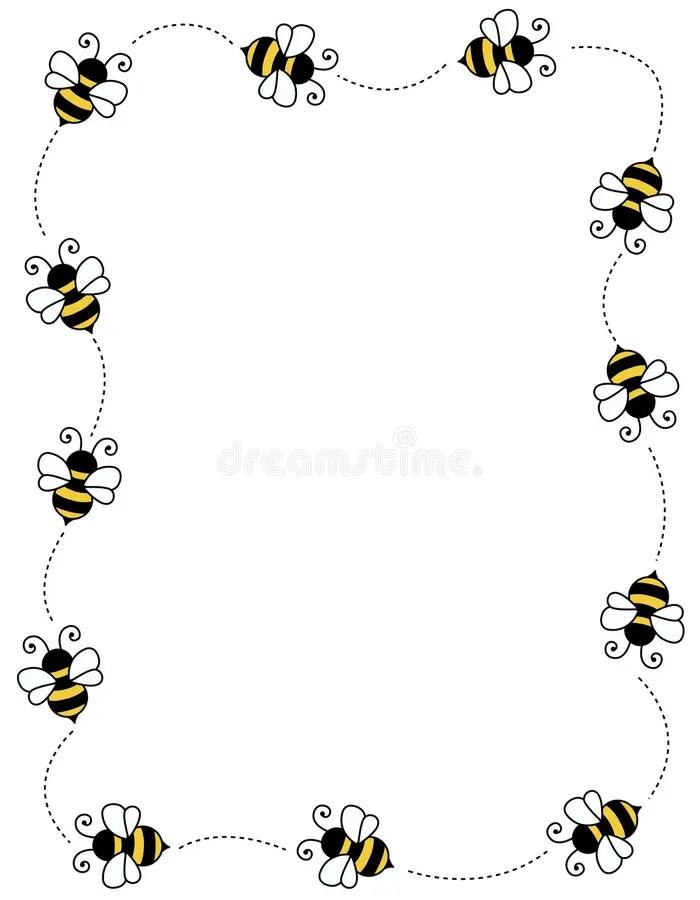 рамка граници пчелы иллюстрация вектора. иллюстрации