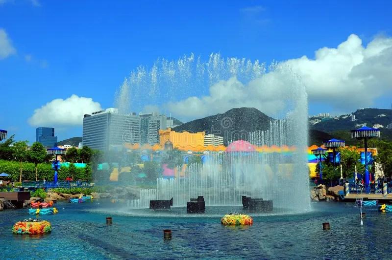 噴泉香港公園 庫存照片. 圖片 包括有 - 11527238
