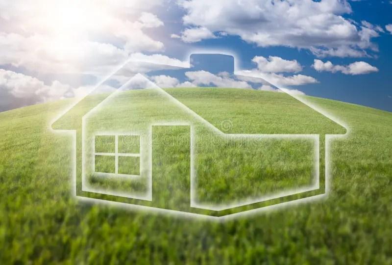 在天空的夢想的域草房子圖標 庫存照片. 圖片 包括有 莊園, 實際, 綠色, 地球, 概念, 藍色, 自由 - 14457786