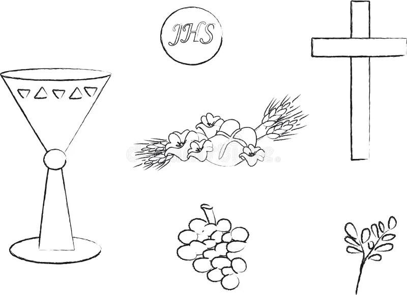 基督教符号 库存例证. 插画 包括有 图画, 图标, 圣餐, 杯子, 谷物, 首先, 基督徒, 问候, 的闪烁