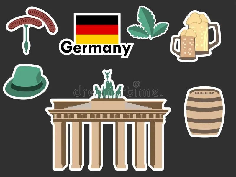 在心臟形狀概念的德國標志 向量例證. 插畫 包括有 在心臟形狀概念的德國標志 - 48125560
