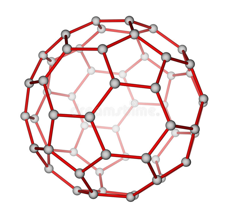 C60 fullerene 庫存例證. 插畫 包括有 翻譯, 設計, 超導性, 幾何, 背包, 化學制品 - 23786180