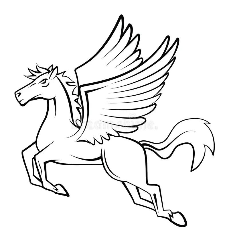 Horse Wings 向量例證. 插畫 包括有 wings. horse - 47882764