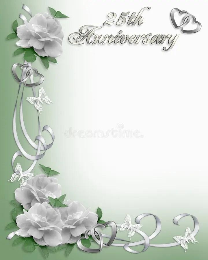 25th Anniversary Invitation Border Stock Image Image