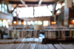 library blurred interior blurry abstract backdrop bookshelves defocused effect space classroom class