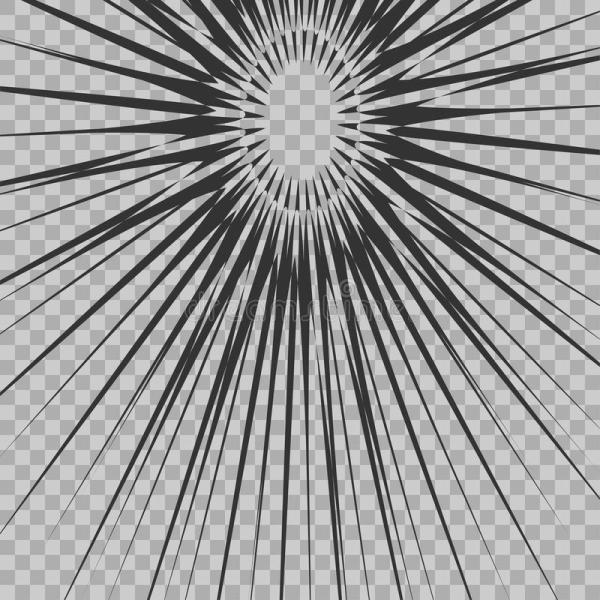Abstract Comic Book Flash Explosion Radial Lines