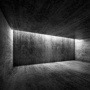 empty dark concrete interior 3d background abstract illustration