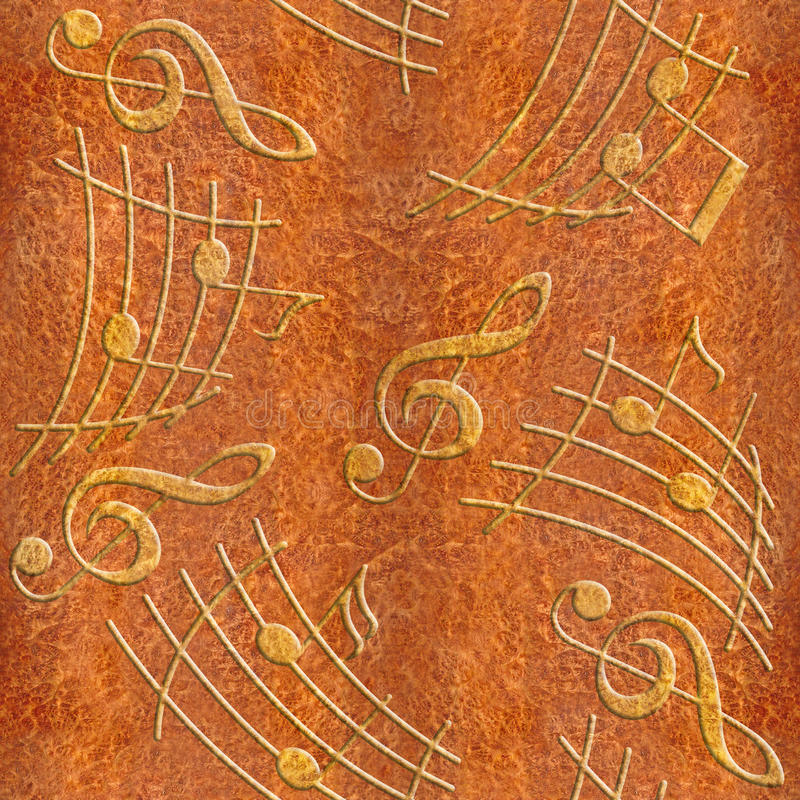 Abstract Decorative Music Notes - Carpathian Elm Wood Texture Stock Illustration - Illustration of grained. classical: 66901412