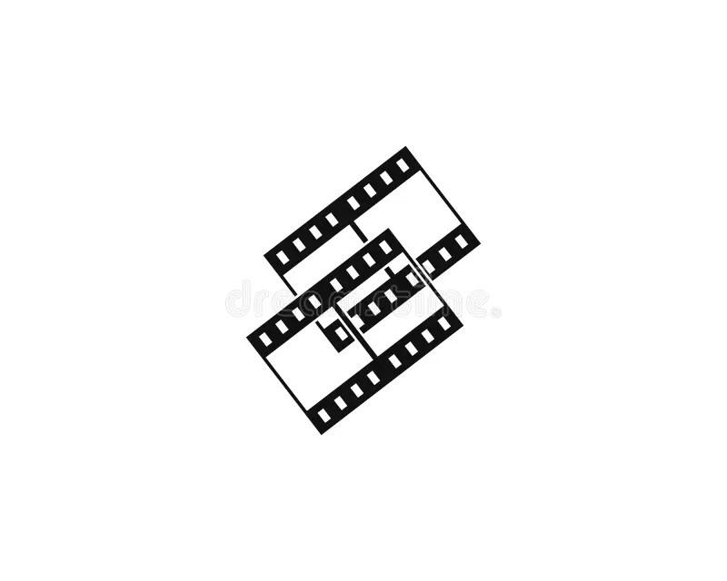 Slide Film Frame stock illustration. Illustration of