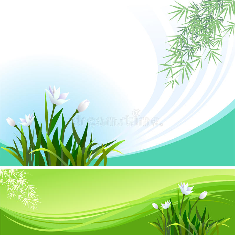Abstract Floral Vector Background  Banner Stock Vector