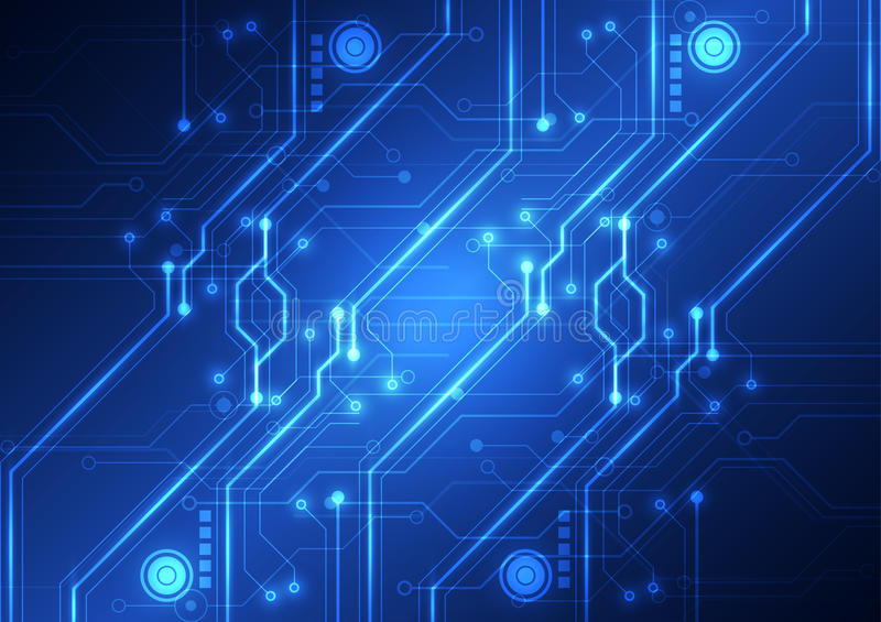 Abstract Futuristic Technology Circuit Board Background