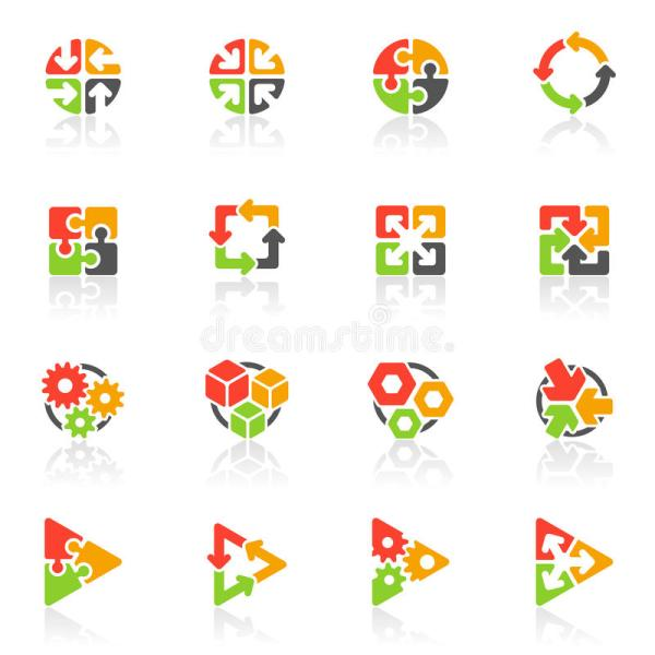Abstract Geometrical Icons. Vector Logo Template Stock