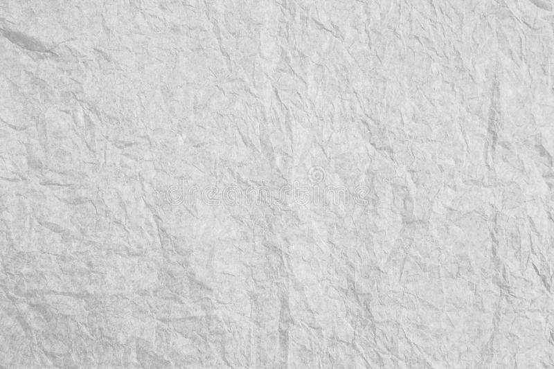 Grey Crumpled Paper Texture And Background Stock Image