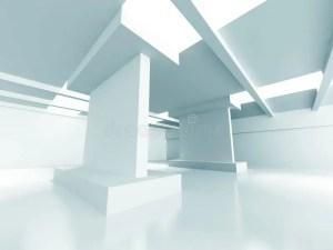 empty architecture modern interior background abstract illustration