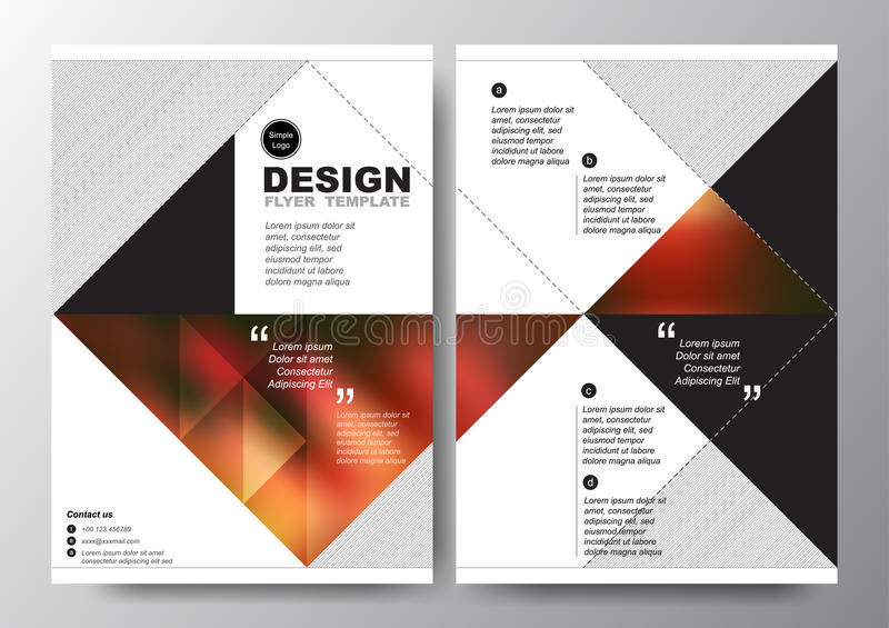 Abstract Red Black Triangle Background For Minimal Poster Brochure