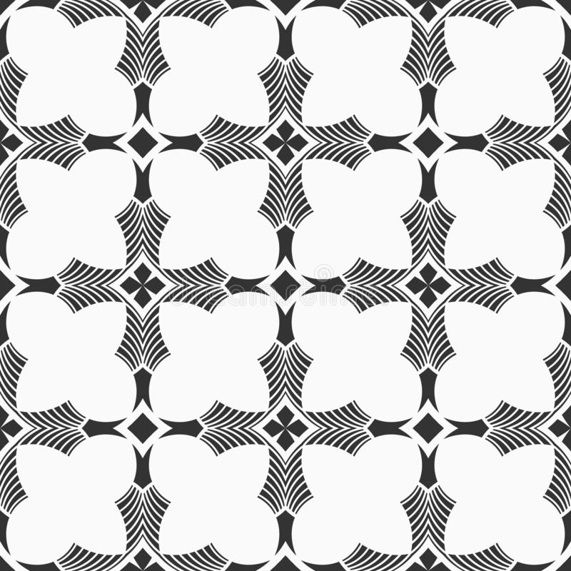 Abstract Seamless Medieval Cross Pattern Stock Vector