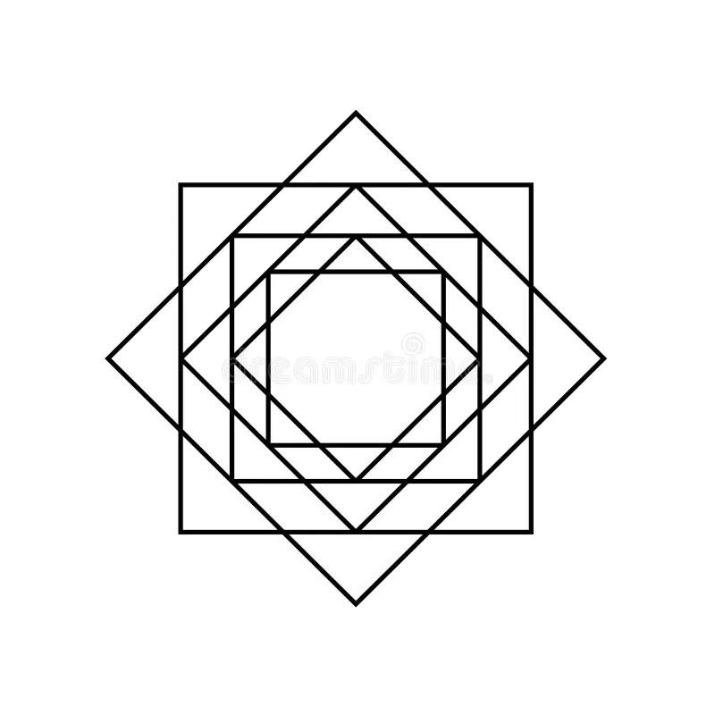 Sacred Geometry Symbols And Elements Background Stock