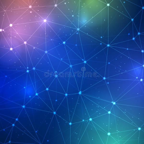 Abstract Triangle Grid Science Background Stock Vector