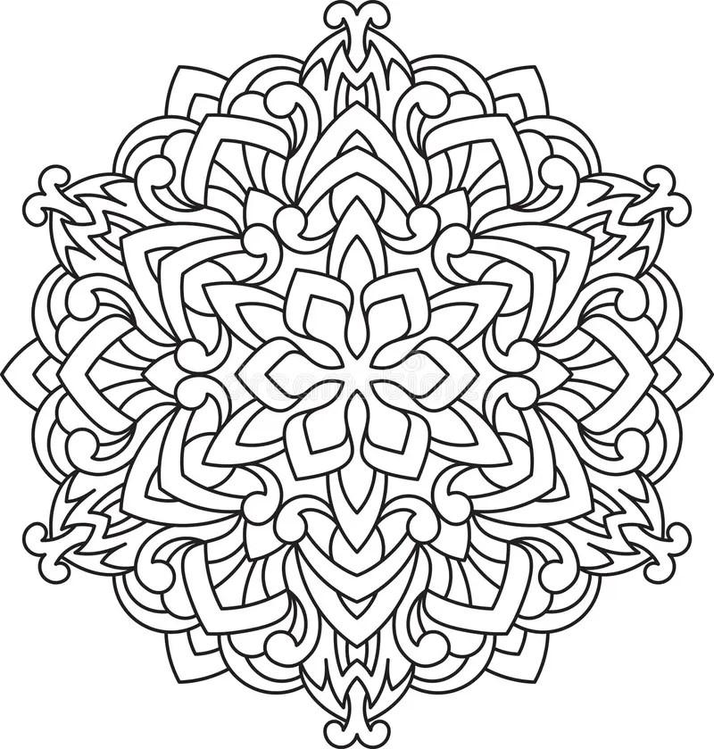 Mandala Illustration Mandalas Pattern Stock Photos